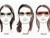 نظارات شمسية حسب شكل الوجه بالصور