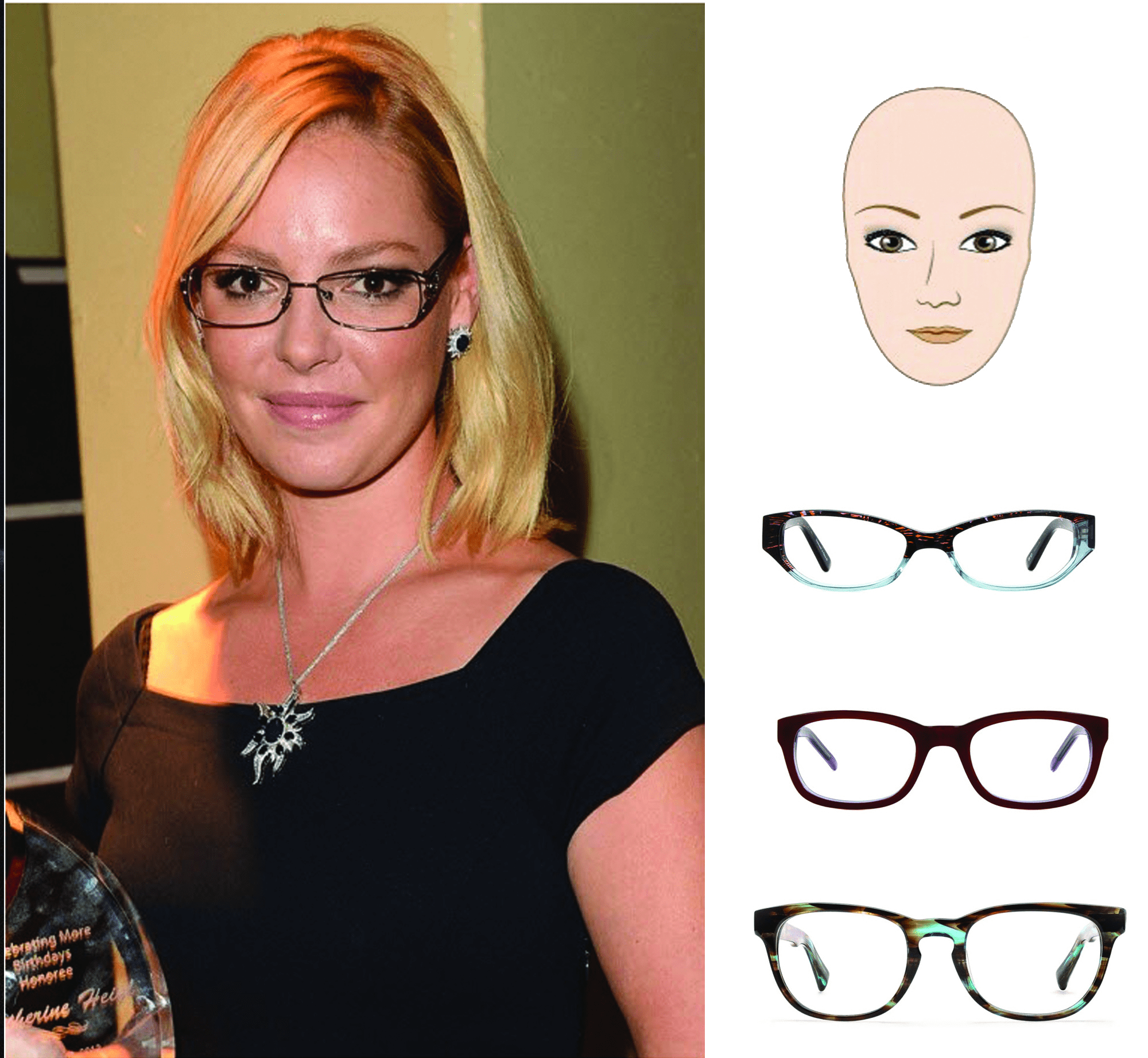 النظارات التي تتناسب مع كل شكل وجه