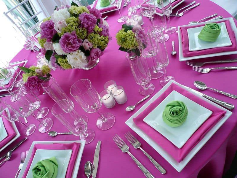 صور طاولة مزينة