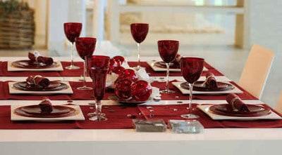 صور تزيين طاولة الطعام لزوجي