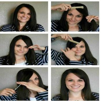 تسريحة غرة الشعر