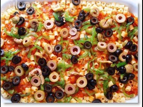 بيتزا المكرونة