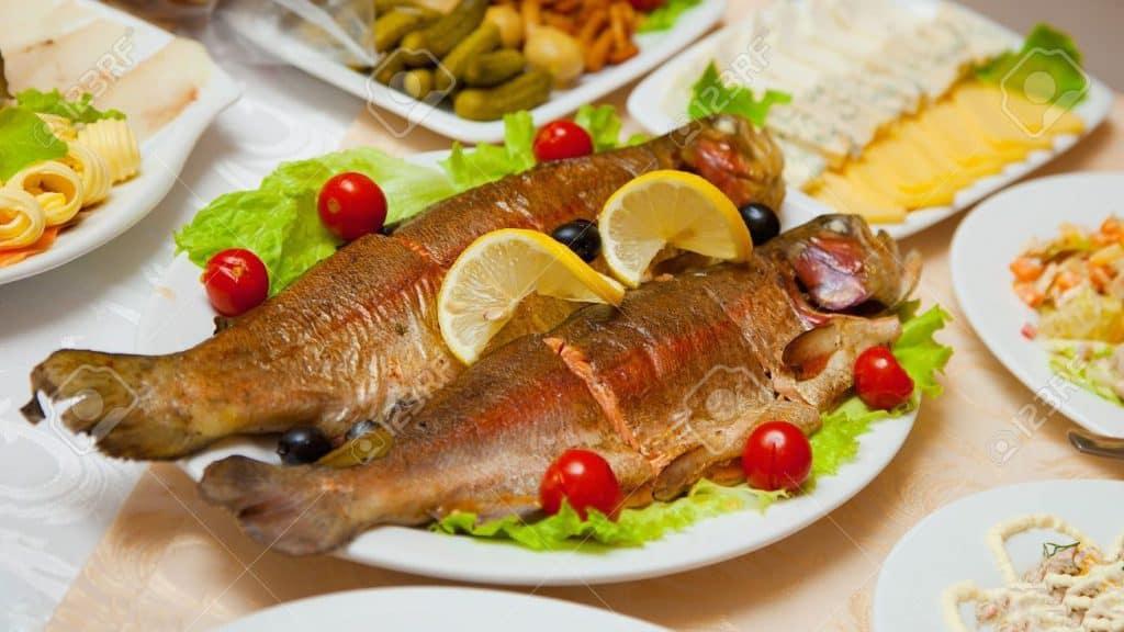 تزيين أطباق الأسماك