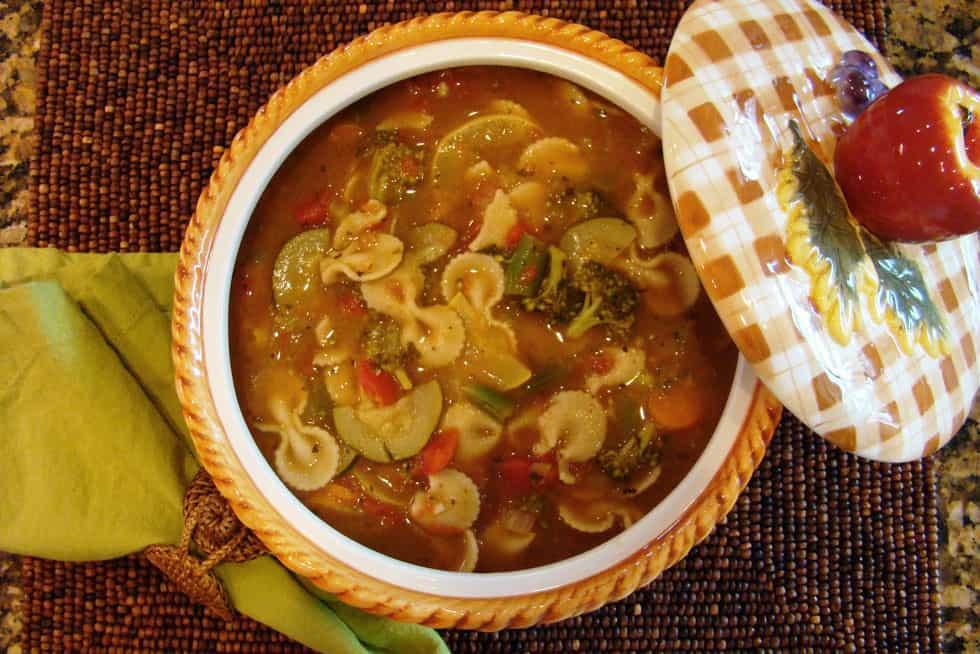 تزيين أطباق الحساء