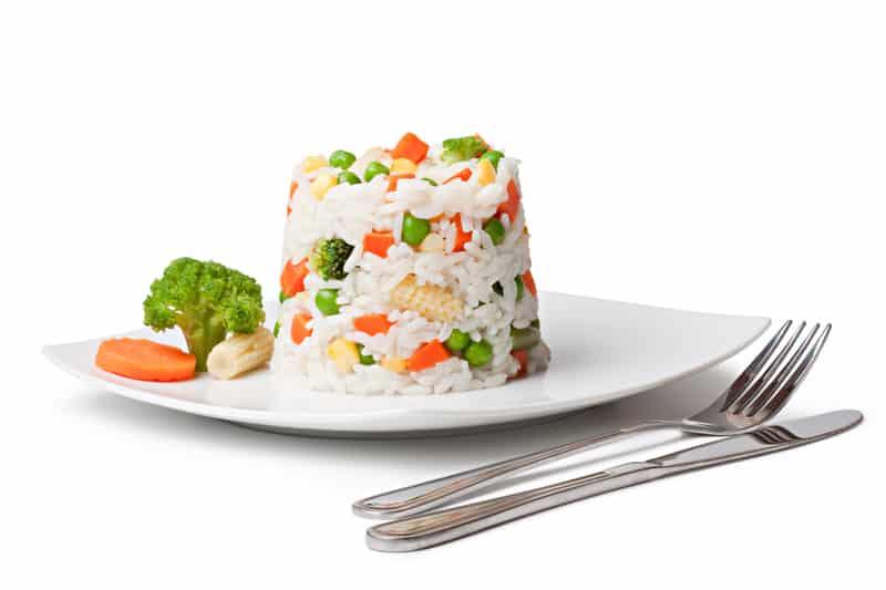 تزيين طبق الأرز