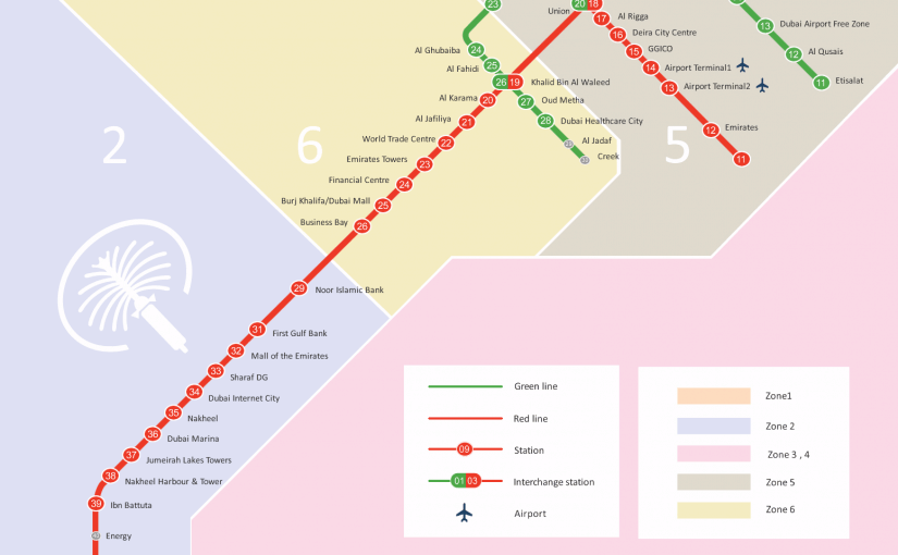خريطة مترو دبي موسوعة