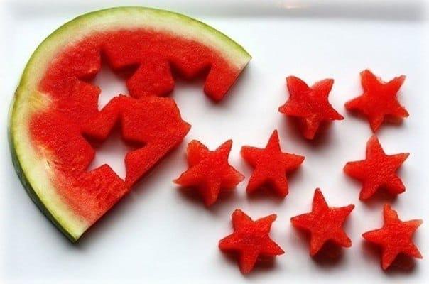 طريقة تزيين البطيخ