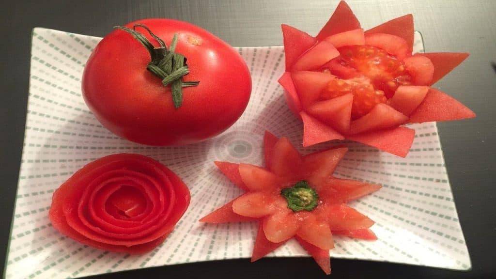 طريقة تزيين الطماطم
