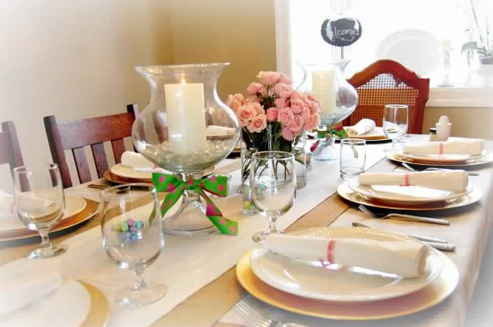 أفكار تزيين المائدة