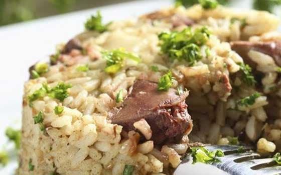 طريقة عمل كبدة الفراخ بالأرز