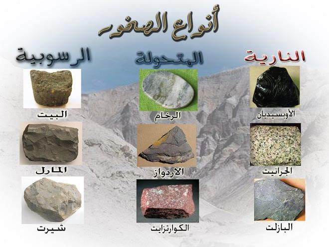ما هي أنواع الصخور موسوعة