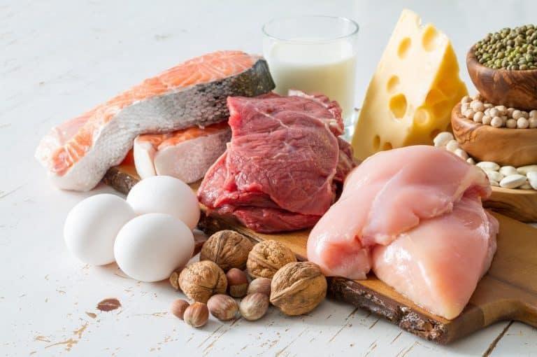 كمية البروتين في الأغذية