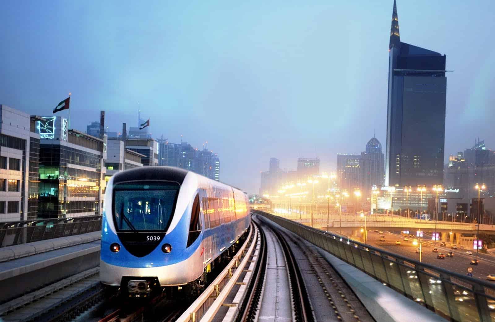 خريطة مترو دبي بالعربي
