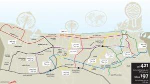 خريطة مترو دبي بالعربي موسوعة