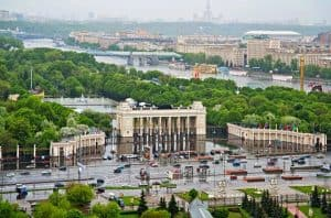 حديقة غوركي في موسكو روسيا