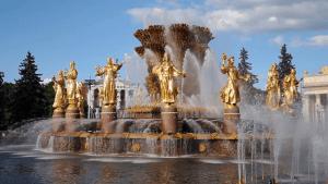 حديقة لوزيني القومية في موسكو روسيا