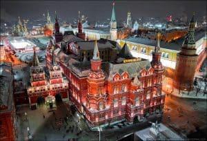 متحف الدولة التاريخي في مدينة موسكو روسيا