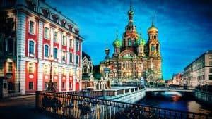 مدينة سانت بطرسبرغ في روسيا