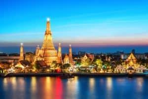معبد وات في بانكوك تايلاند أورن