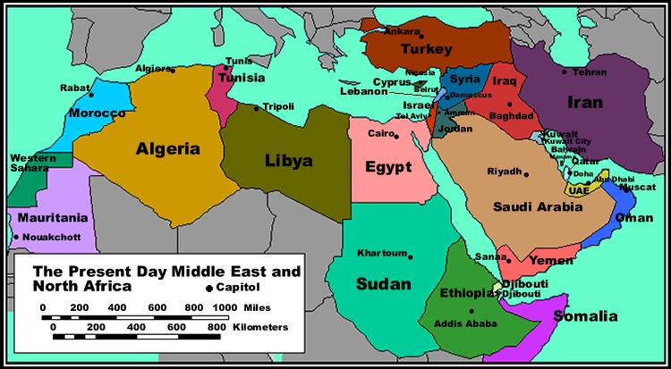 ما هي اكبر الدول العربية