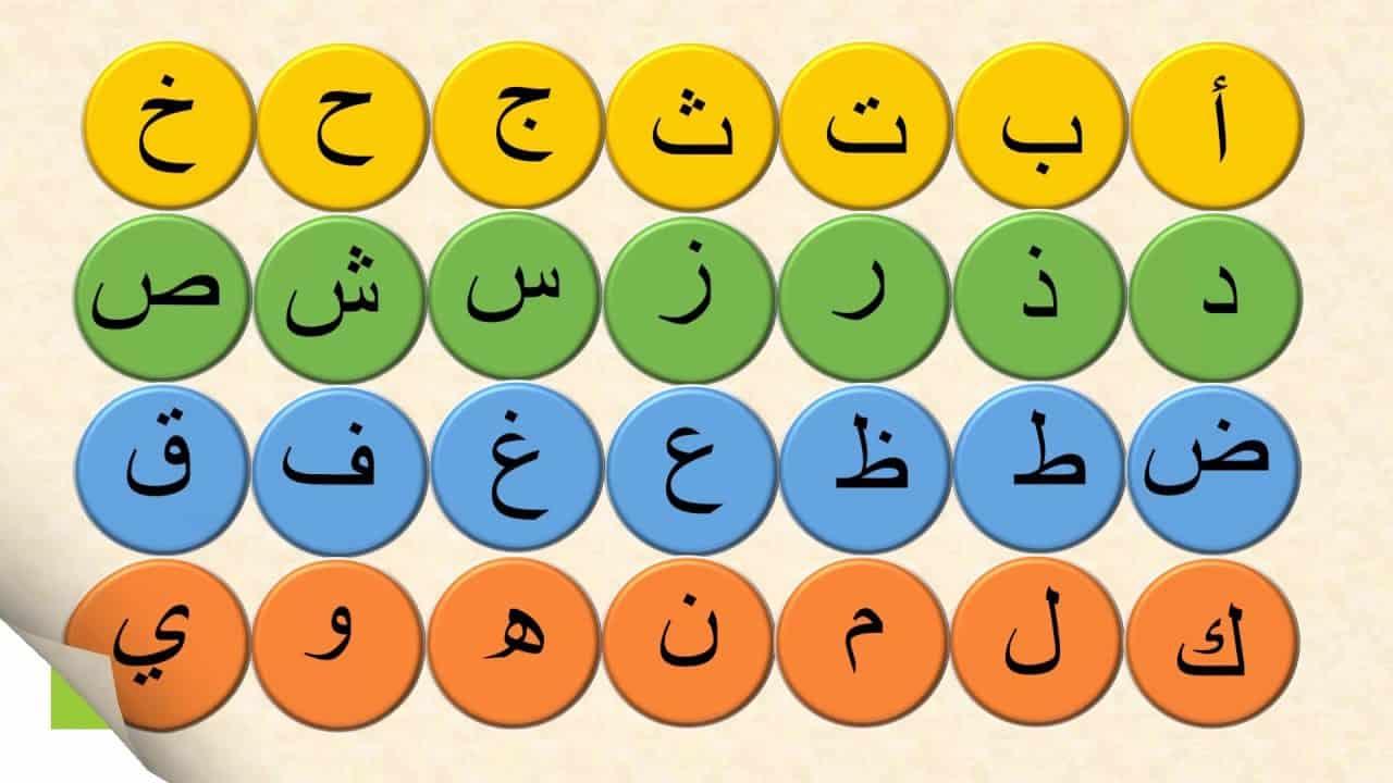 تعلم الحروف العربية بالترتيب موسوعة