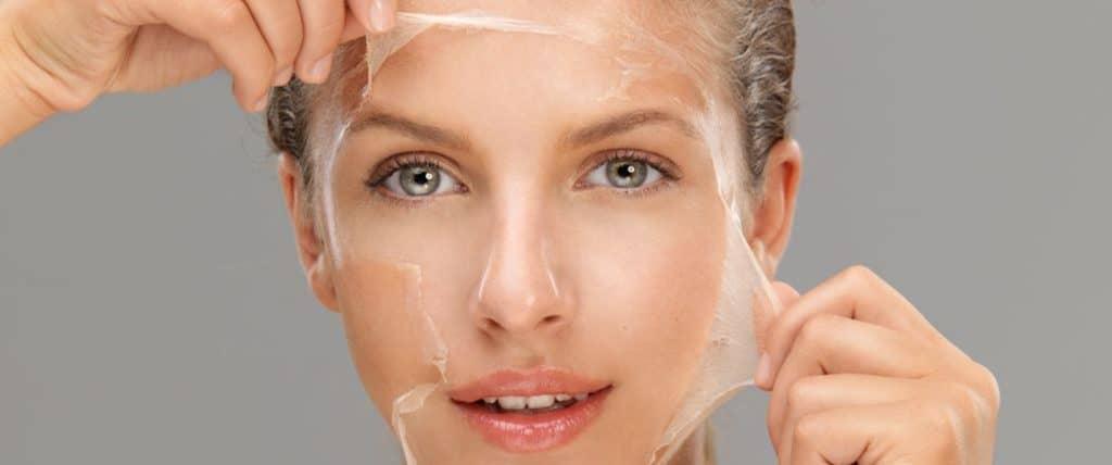 علاج تقشير الوجه