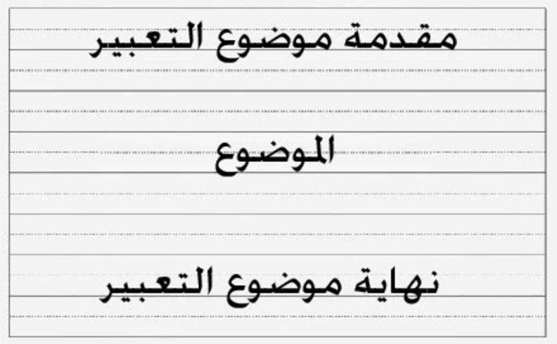 كيف أكتب موضوع تعبير باللغة العربية