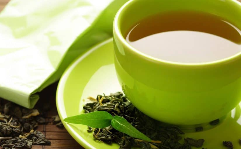الشاي الأخضر على الريق