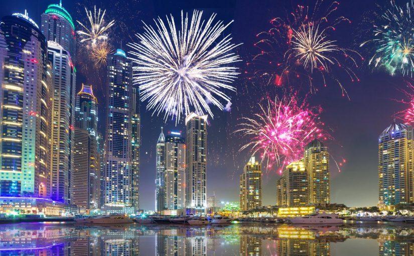 الألعاب النارية في دبي