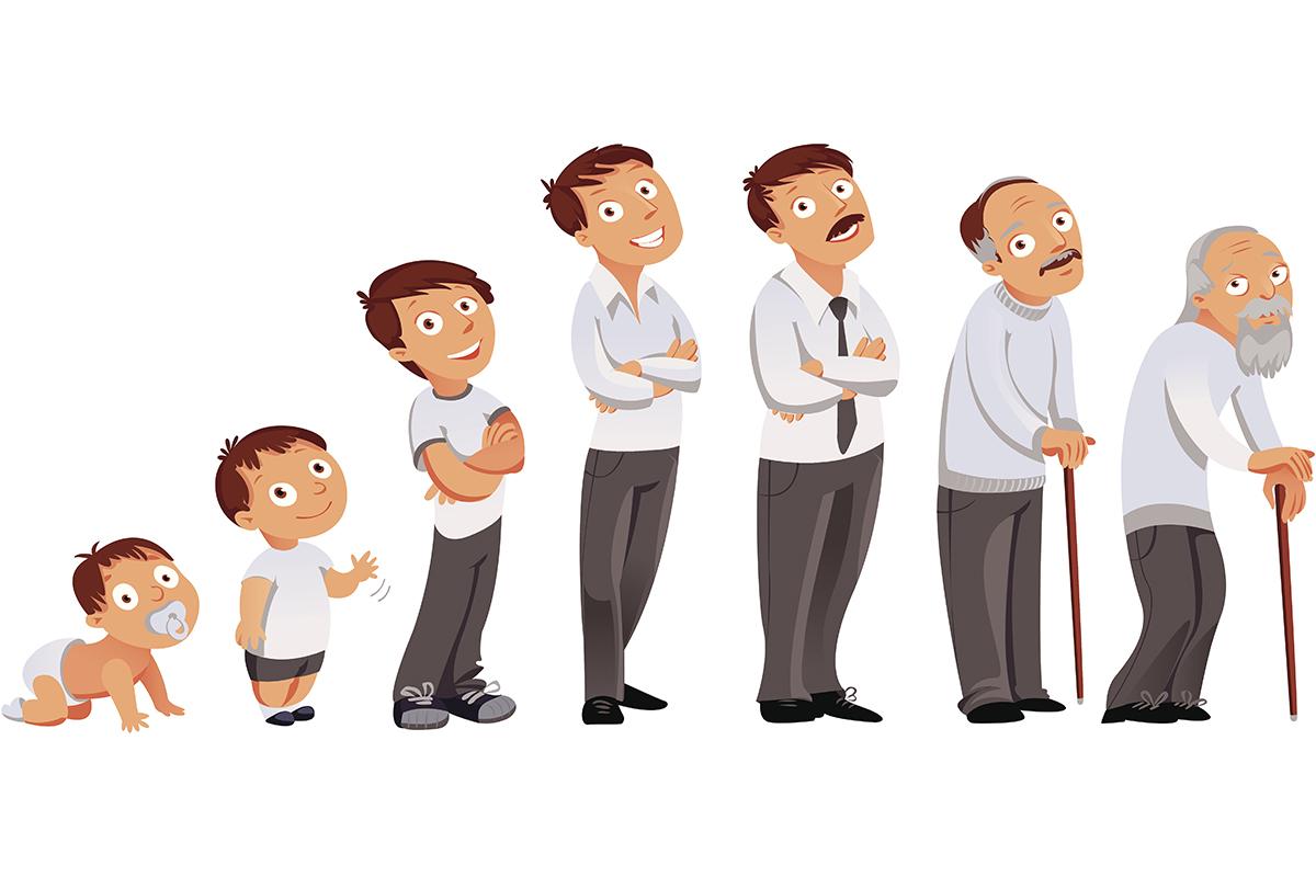 اسماء مراحل نمو الإنسان من الطفولة إلى الشيخوخة موسوعة