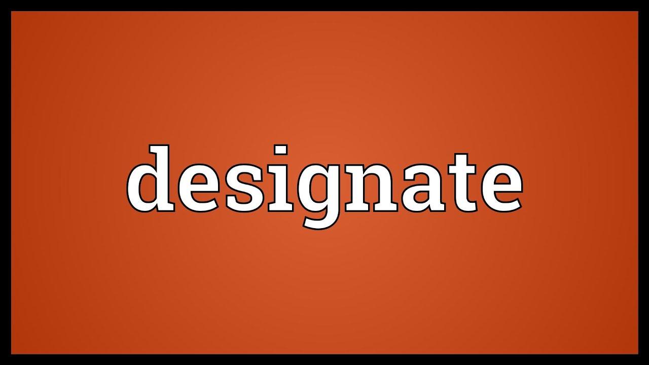 designation معنى