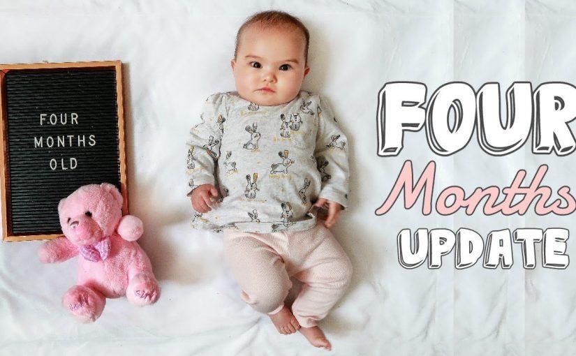 نمو طفلك في عمر الأربعة أشهر