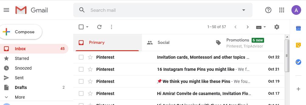 البريد الصادر والوارد