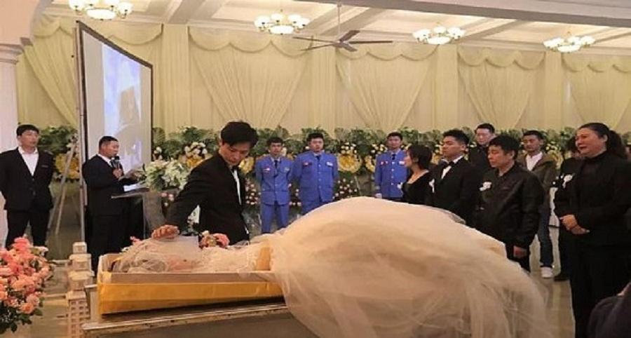 جنازة تتحول لحفل زفاف في الصين