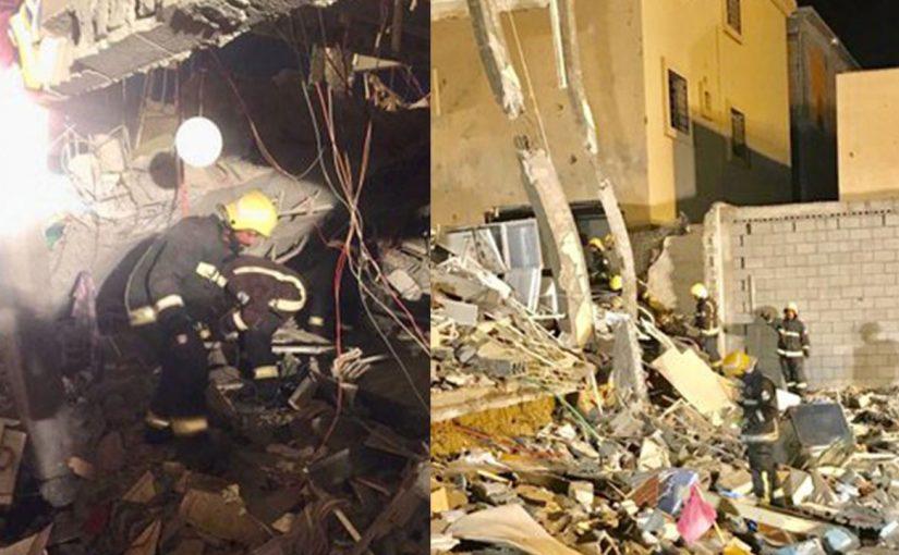 إصابة 13 شخصًا بانهيار لواجهة مبنى بالدمام