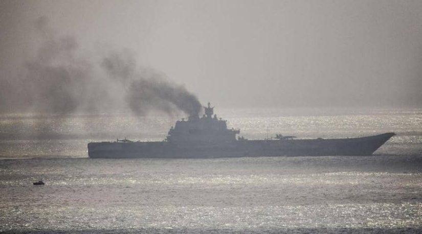 إصابة 3 أشخاص في اندلاع حريق بحاملة طائرات روسية