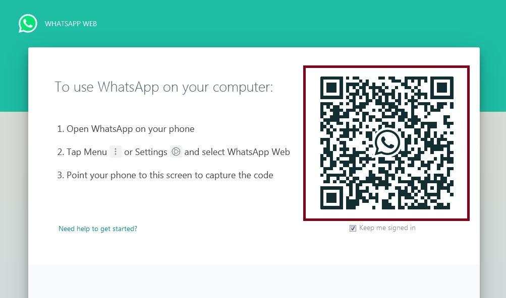 web.whatsapp.com مسح الرمز المربع