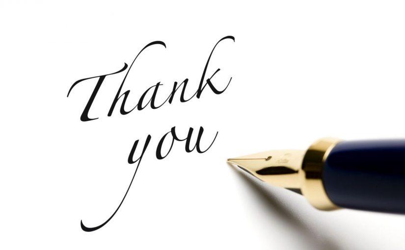 كلمة شكر وتقدير مكتوبة