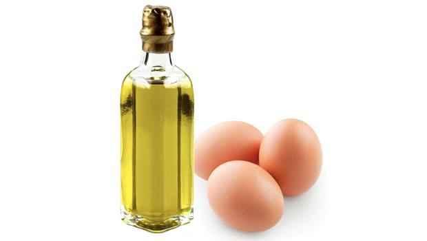 زيت اللوز مع البيض