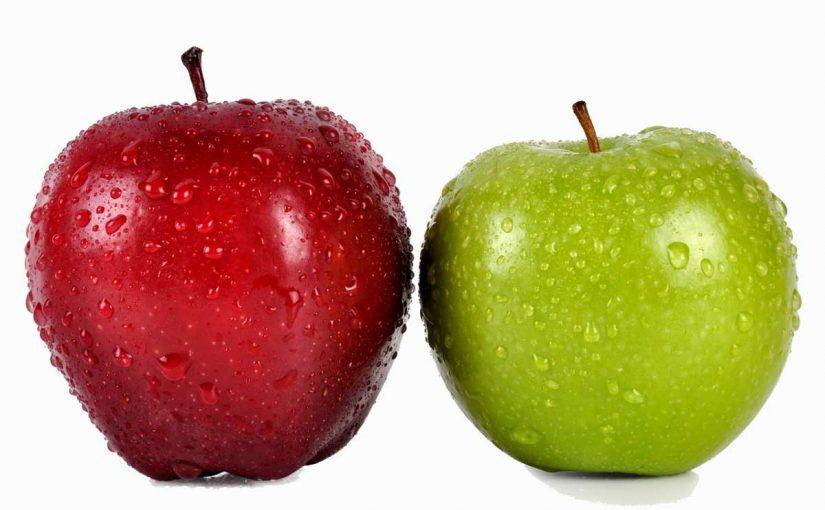 كم سعرة حرارية في التفاح