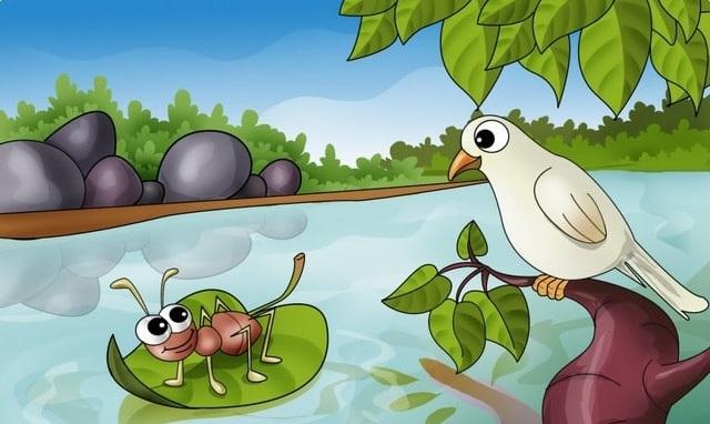 قصة النملة والحمامة