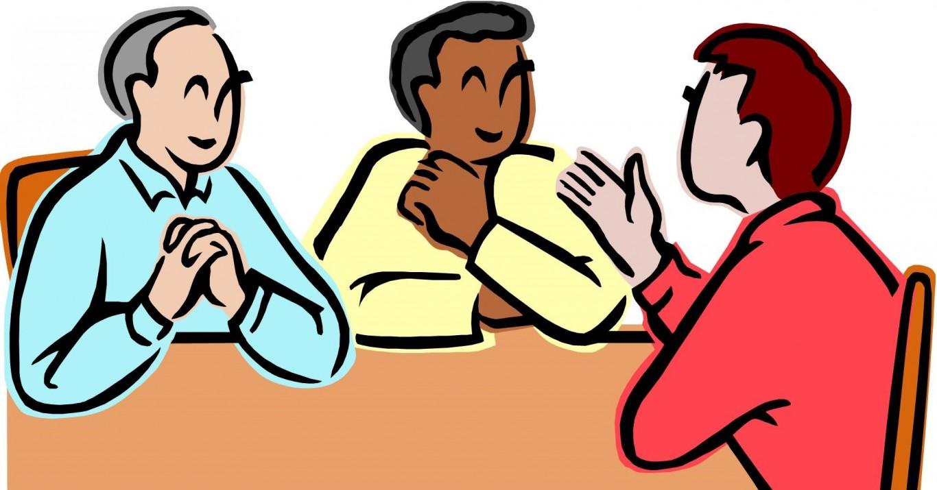 حوار بين ثلاثة اشخاص موسوعة