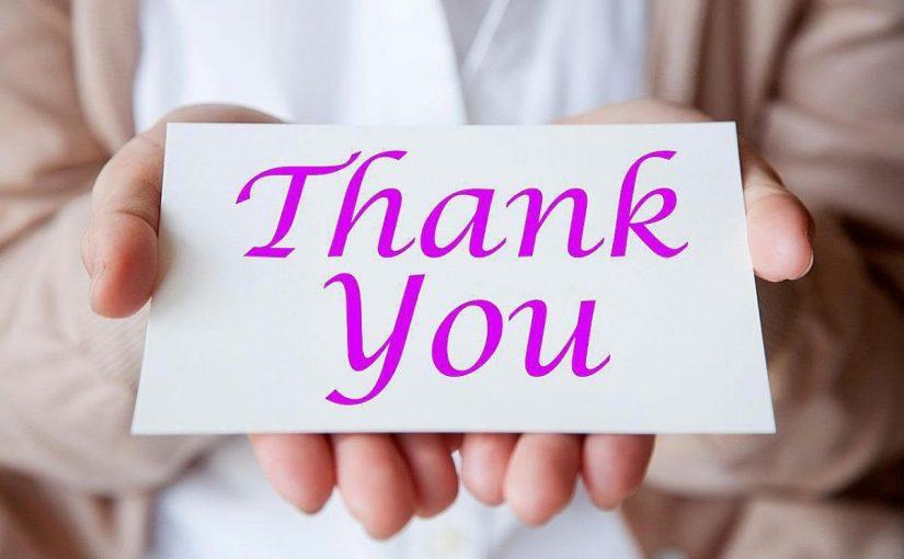 كلمة شكر للمديرة