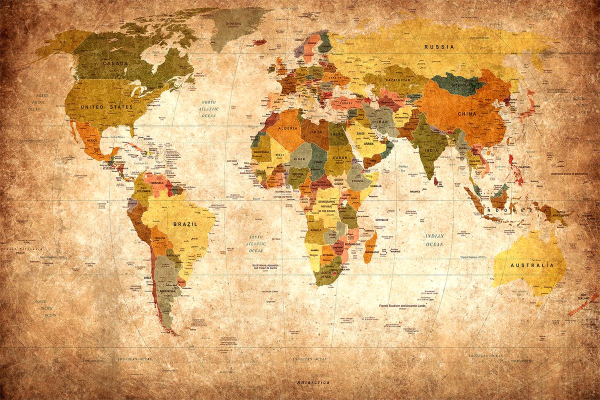 شرح خريطة العالم 2020 موسوعة