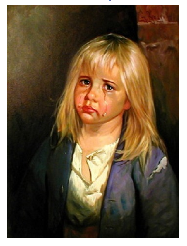 لوحة الطفل الباكي
