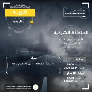 حالة الطقس في السعودية الإثنين 24 فبراير 2020 ...والأرصاد تُحذر هطول أمطار رعدية