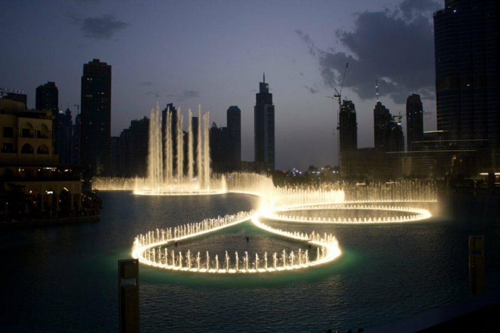 أروع صور نافورة دبي