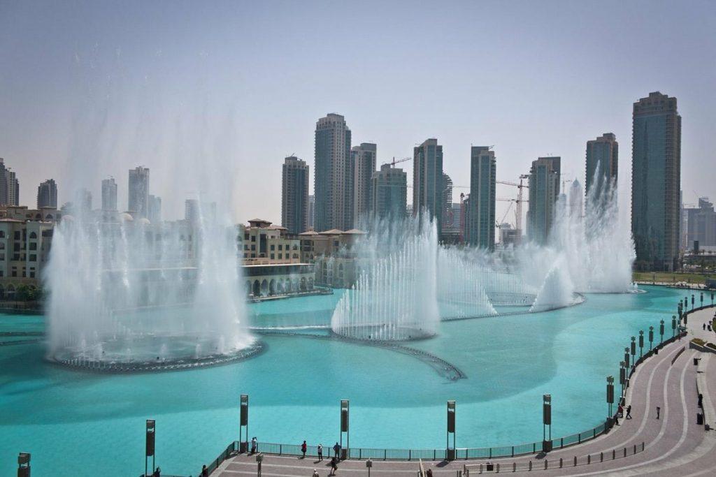 صورة نافورة دبي لتويتر