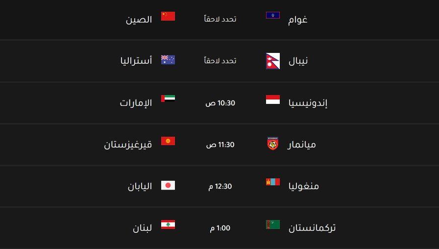 قرعة تصفيات كاس العالم 2022 اسيا