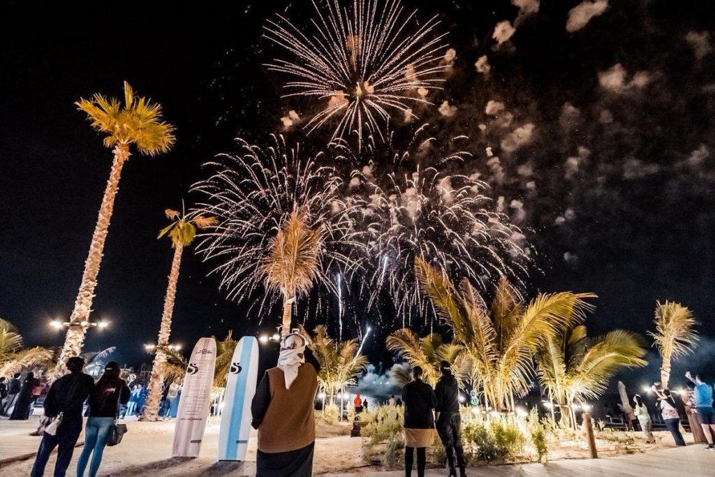 صور الألعاب النارية في دبي 2020